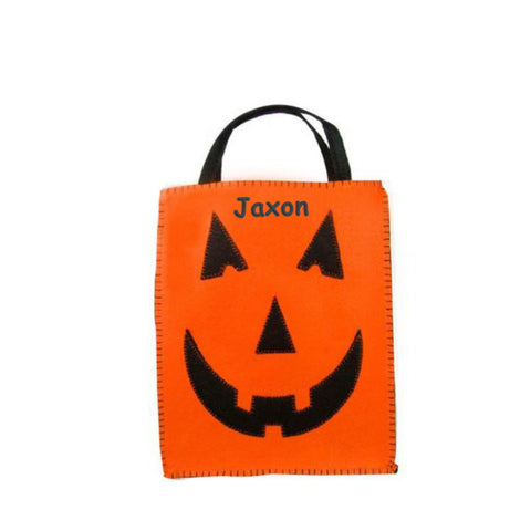 Personalized Classic Jack O' Lantern Trick or Treat Bag - Small
