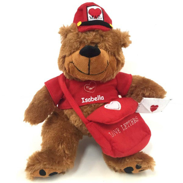 Personalized Love Letter Valentine's Teddy Bear - Brown, 12 inch