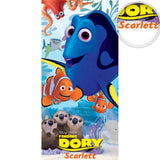 Personalized Licensed Nemo and Dory Beach Towel