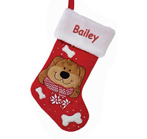 Personalized My Favorite Dog Christmas Stocking