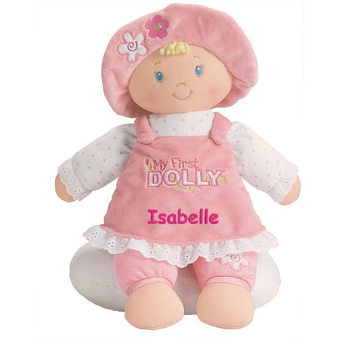 Personalized Baby Gift - My First Dolly - Blonde - 13 inch