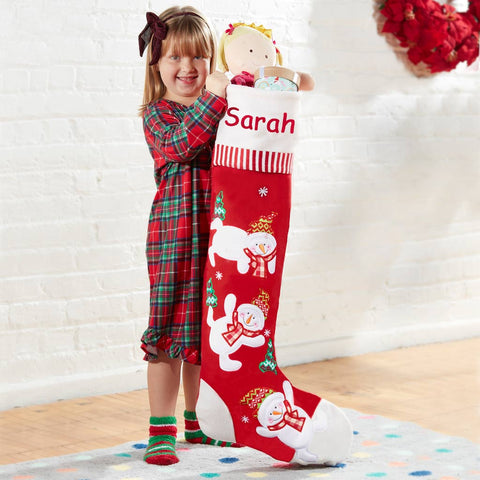 Personalized Dibsies Giant Tumbling Snowman Stocking