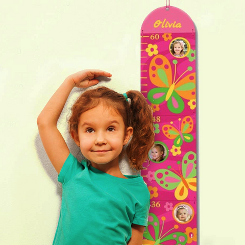 Personalized Photo Growth Chart - Butterflies