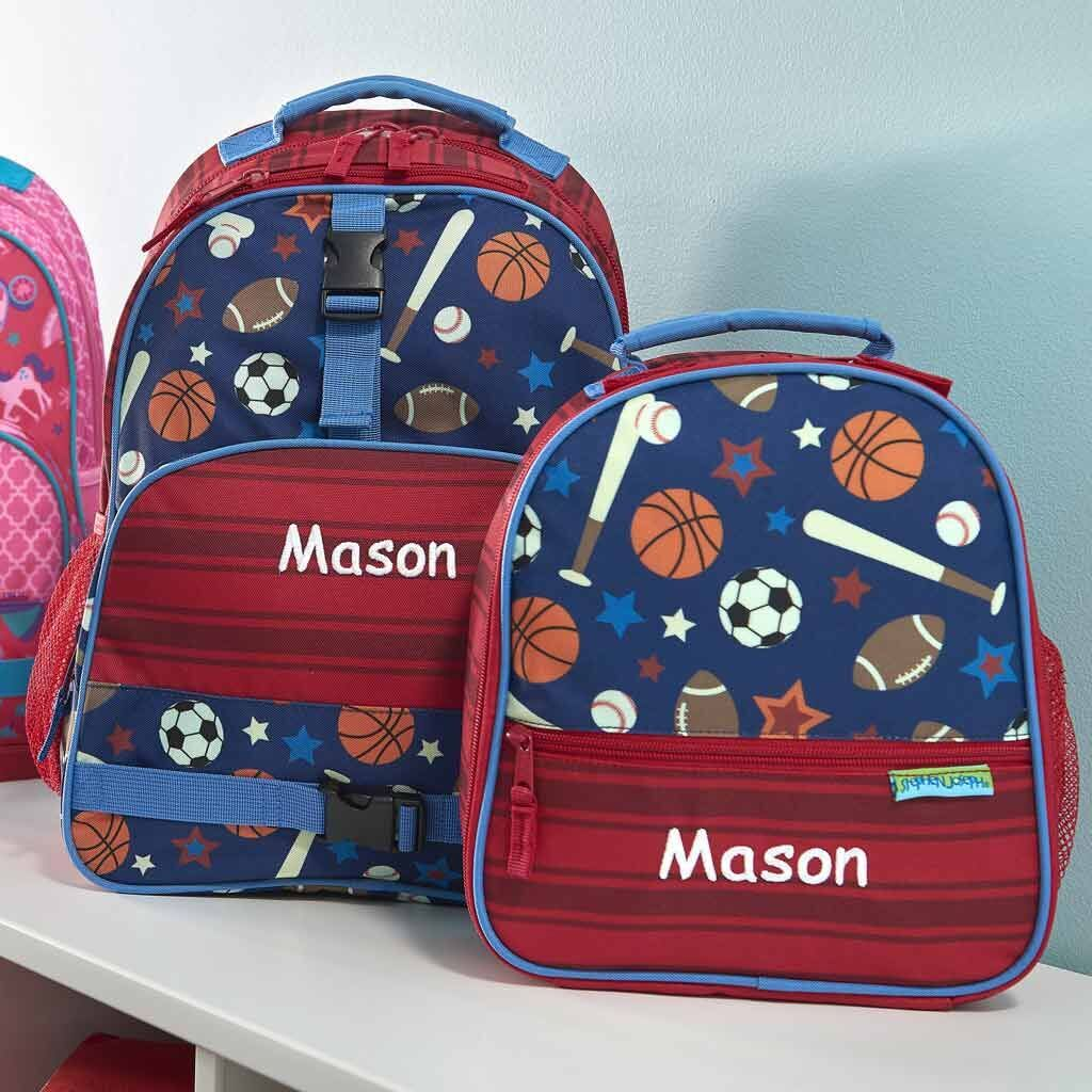 Personalized Sports Trendsetter Backpack & Lunch Box Combo
