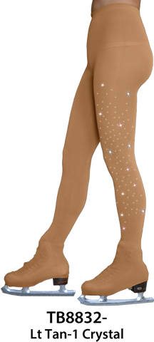 ChloeNoel - Over the Boot Skating Tights with Crystals