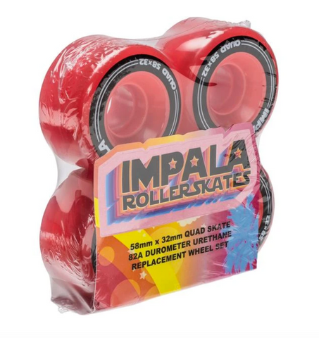 Impala Wheels - Red - 4 Pack