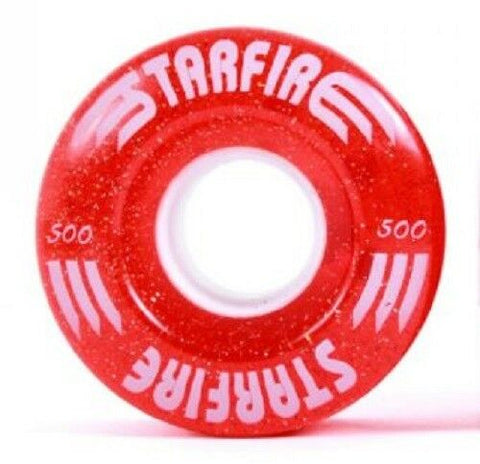 Red Glitter Starfire Wheels - Indoor / Outdoor - (8 Pack)