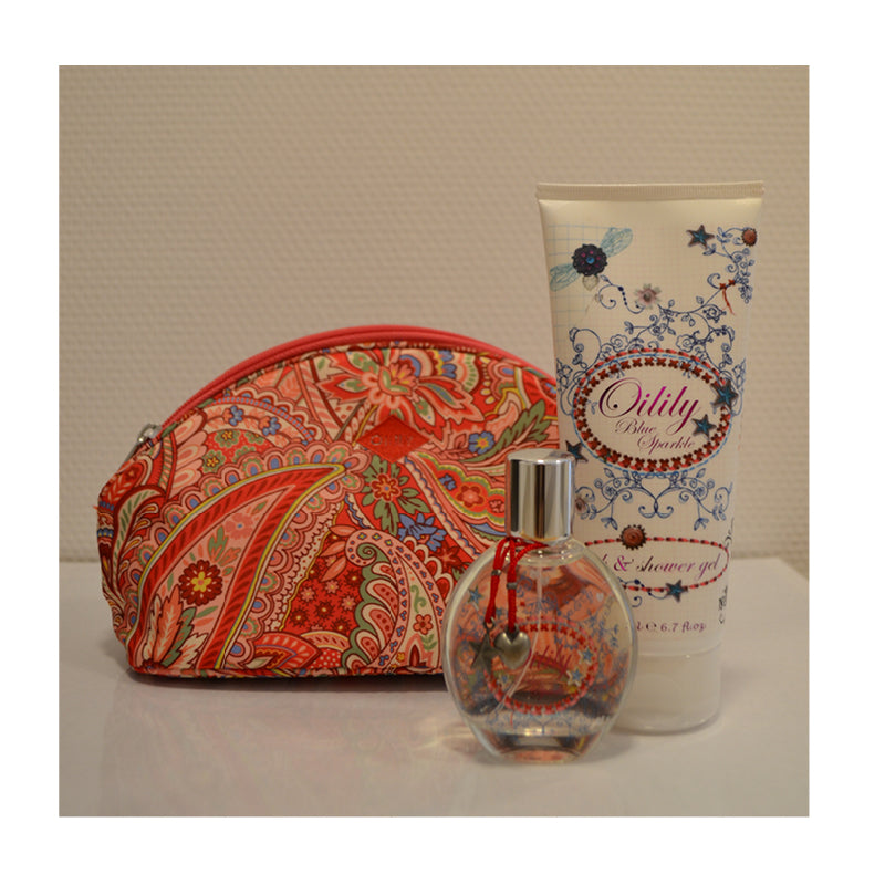 OILILY BLUE SPARKLE SET EDT 50ML + BATH & SHOWER GEL + BAG