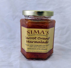 SIMA'S CARROT AND ORANGE PEEL JAM 12oz
