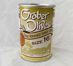 GRABER OLIVES  #16 Large 7.5 oz
