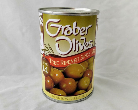GRABER OLIVES #14 medium 7.5 oz