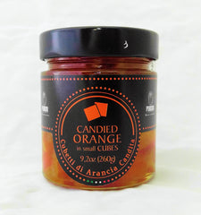 PARIANI  CANDIED ORANGE PEEL CUBES in syrup 260 gr.