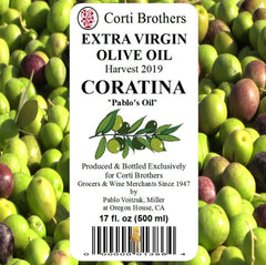 Corti Bros 2019 Coratina Extra Virgin Olive Oil 500ml