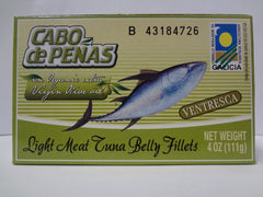 Cabo de Penas Yellowfin Ventresca Tuna in organicExtra Virgin Olive Oil