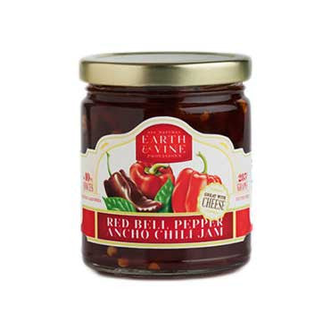 Earth & Vine Red Bell Pepper Ancho Chili Jam