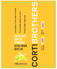 Corti Brothers Green Harvest Peranzana Extra Virgin Olive Oil 750 ml