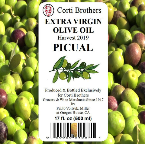 Corti Brothers 2019 Piqual Extra Virgin Olive Oil 500ml