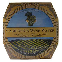 California Wine Wafer Lemon Vanilla