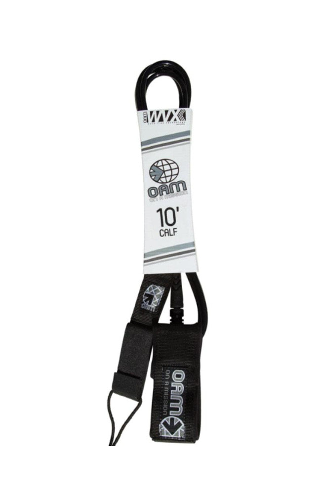 10' Regular Calf Leash Black