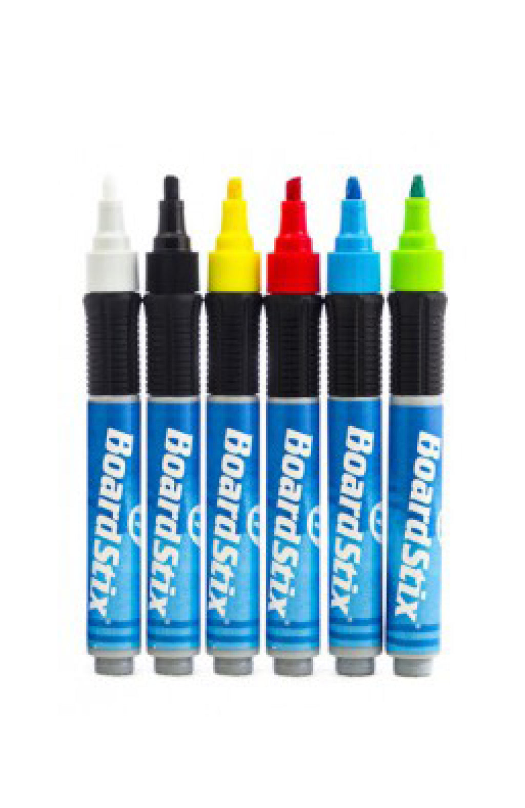 GRIP MARKER SIX PACK PLASTIC BARELLED PENS