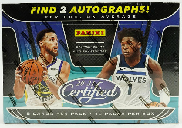 2020/21 CERTIFIED BASKETBALL SEALED HOBBY BOX