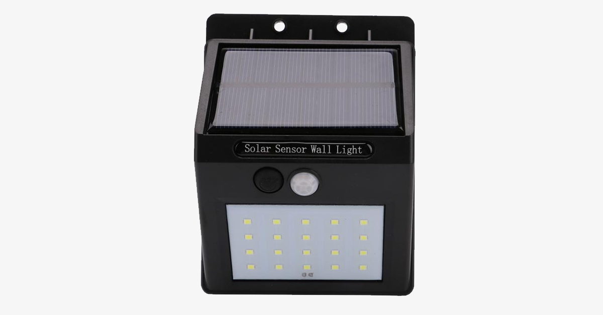 LED Solar-Powered Motion Sensor Security Light - 2 Pack