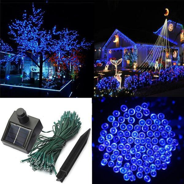 17-Meter String of 100 LED Solar-Powered Fairy Lights-Rama Deals