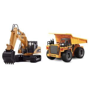 2019 RC Construction Vehicles EXCAVATOR & DUMP TRUCK gotolovely