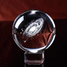 Load image into Gallery viewer, 3D Galaxy Crystal Ball with crystal base gotolovely