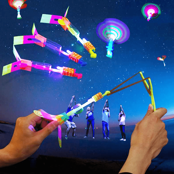 【40% OFF Holiday Promotion】Amazing Rocket Slingshot LED Helicopters 1 pc(Random color) gotolovely