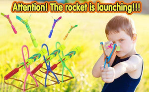 【40% OFF Holiday Promotion】Amazing Rocket Slingshot LED Helicopters gotolovely