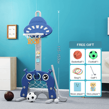 Load image into Gallery viewer, Adjustable 6 in 1 Basketball Kids Hoop Toy Set convertend