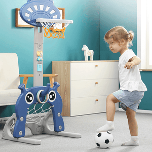 Adjustable 6 in 1 Basketball Kids Hoop Toy Set gotolovely