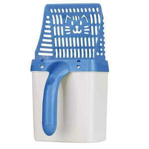 All in One Cat Litter Sifter Scoop System BLUE gotolovely