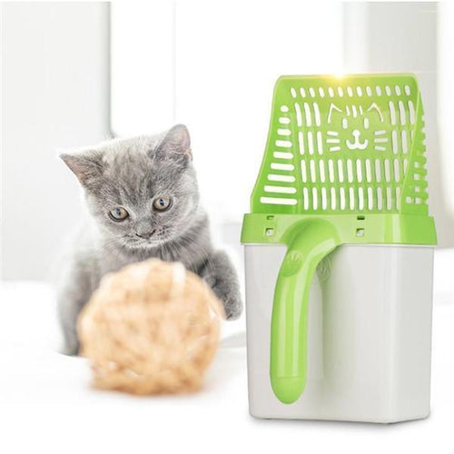 All in One Cat Litter Sifter Scoop System GREEN gotolovely