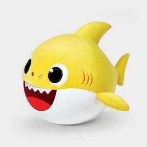 Animated Dancing Shark Plush Doll Yellow gotolovely
