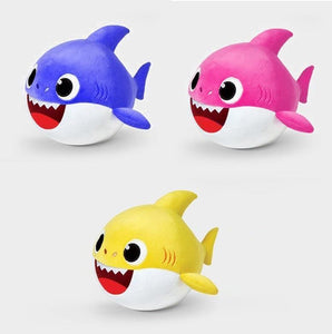 Animated Dancing Shark Plush Doll Yellow-Blue-Pink gotolovely
