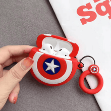 Load image into Gallery viewer, Avengers Airpods Case Captain Shield gotolovely