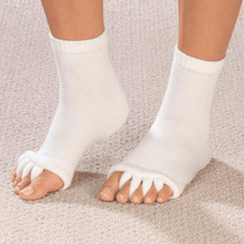 Load image into Gallery viewer, Bunion Relief Toe Socks(2 pairs) white / white gotolovely