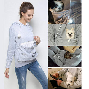 "Cat & Dog Hoodie with Pouch - ""The Paw"" gotolovely"