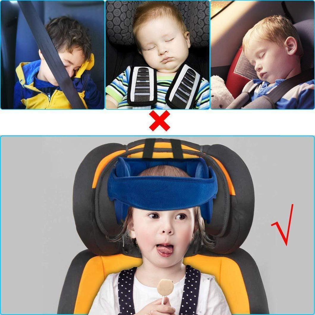 Child Car Seat Head Support Blue gotolovely
