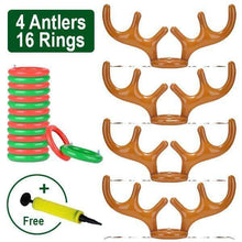 Load image into Gallery viewer, Christmas Reindeer Antler Ring Toss Game 🔥Big Family Set + Pump (Free) gotolovely