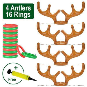 Christmas Reindeer Antler Ring Toss Game 🔥Big Family Set + Pump (Free) gotolovely