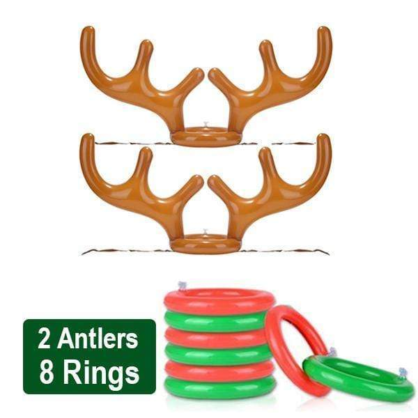 Christmas Reindeer Antler Ring Toss Game Standard Set gotolovely