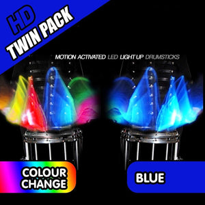 COLOUR CHANGING LED LIGHT UP DRUM STICKS gotolovely