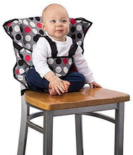 Load image into Gallery viewer, Cozy Cover Easy Seat Portable High Chair RED WITH PATTERN gotolovely