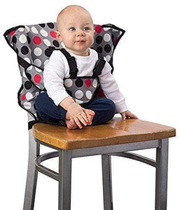 Cozy Cover Easy Seat Portable High Chair RED WITH PATTERN gotolovely
