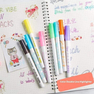 Double Line Outline Pen,For Gift Card Writing & Drawing gotolovely