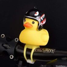 Load image into Gallery viewer, Duck Bicycle Bell & Head Lights Black Shark gotolovely