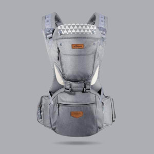 Ergonomic Breathable Hipseat Baby Carrier Grey gotolovely